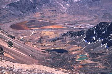 die Seen spiegeln in jeder erdenklichen Farbe, Chacaltaya, Bolivien
