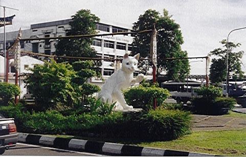 Katzendenkmal in Kuching