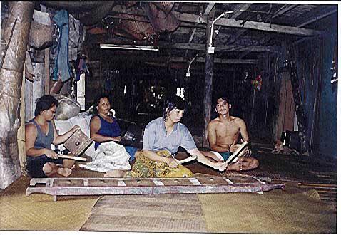 Batang Ai  im Langhaus der Iban