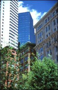 Historische und oderne Gebäude in Boston