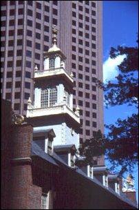 alt und neu in Boston Stadt, USA