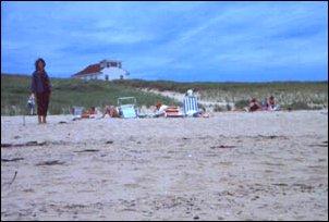 am Strand von Cape Cod, Massachusetts, USA
