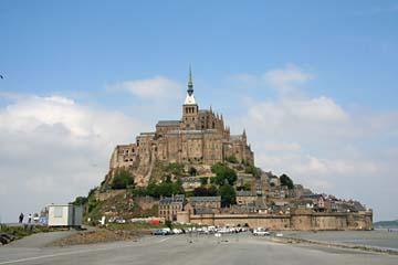 Blick auf den Klosterberg Mont-Saint-Michel