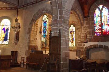 in der Kirche von Mont-Saint-Michel