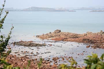 """Blick zur Insel """"Ile de Brehat"""" vom Pointe del` Arcouest"""