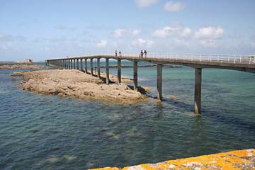 Schiffsanlegebrücke in Roscoff
