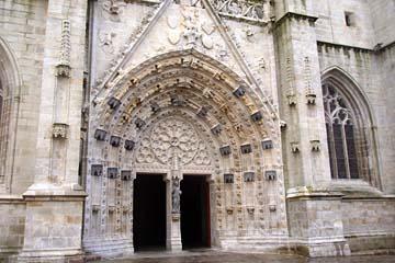Quimper, Eingangstor zur Kathedrale Saint-Corentin