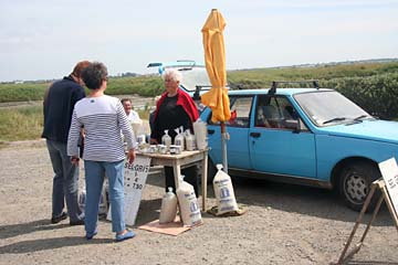 Salzverkauf an der Straße in Guerande