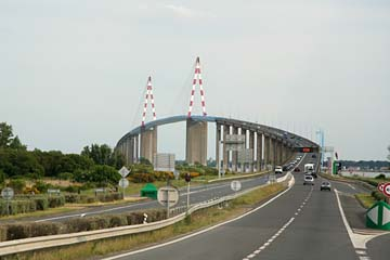 Brücke über des Mündungsdelta der Loire bei St-Nazaire