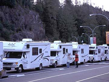 In Port Hardy legen die Fähren zur Inside Passage ab, British Columbia