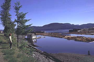 Holzbearbeitung in Sayward, Vancouver Island, Westkanada