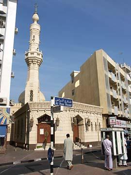 eine kleine Moschee im Stadtteil Deira in Dubai, Vereinigte Arabische Emirate