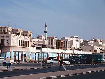 der Stadtteil Deira vom Dubai Creek aus gesehen, Dubai, VAE
