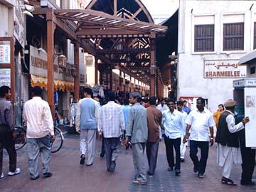 auf dem Dubai Old Souk Markt im Stadtteil Dubai, VAE