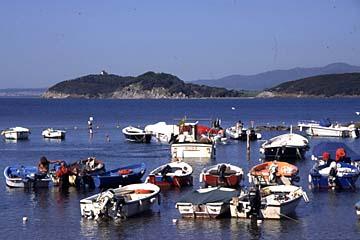 die italienische Riviera Bild 118 Küste bei Populonia