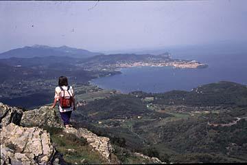 Insel Elba Bild 200 Sicht vom Cimba del Monte