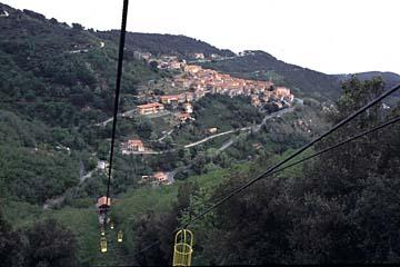 Insel Elba Bild 294 Kabinenbahn auf Monte Capanne