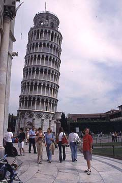 Pisa in der Toskana Bild 434 der schiefe Turm von Pisa