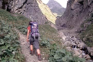 im Trettachtal beim Aufstieg zur Kemptner Hütte