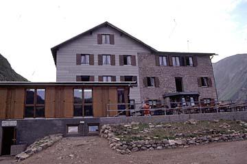 die Kemptner Hütte am Fernwanderweg E5 bei Oberstdorf