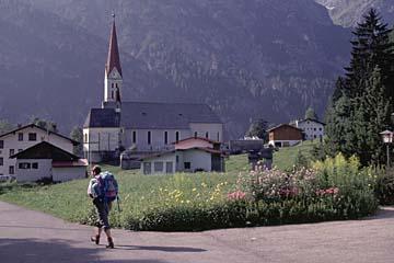 Fernwanderweg E5 - Bild 0029 Ankunft in Holzgau im oberen Lechtal