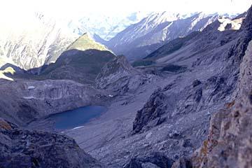 Fernwanderweg E5 - Bild 0065 Blick zurück von der Seescharte (2599m)