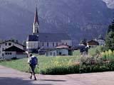 Ausblick am Fernwanderweg E5 aufder Alpenüberquerung