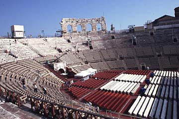das Amphitheater in Verona nähe Gardasee, Norditalien