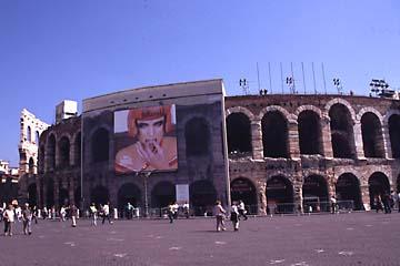 die Arena zu Verona in Oberitalien