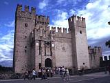 Das Castell in Sirmione in Oberitalien