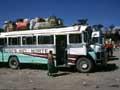 ein Bus in Huehuetenango im Nordwesten von Guatemala in Mittelamerika