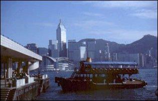 die Uferpromenade von Kowloon, Hong Kong