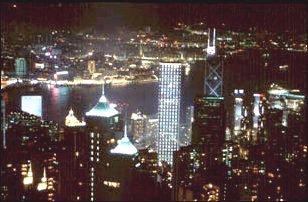 die Aussicht von Victoria Peak in Hong Kong
