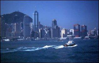 die Skyline von Victoria, Hong Kong