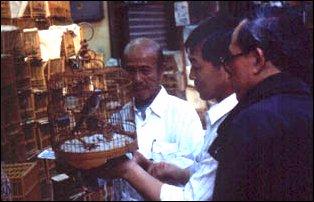auf dem Bird Market in Hong Kong