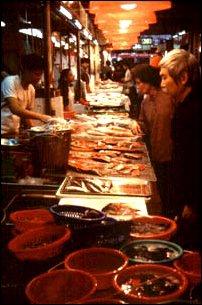 ein Markt in Hong Kong