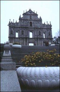 die Fassadenruine der Pauluskirche in Macau, China