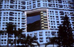 """Detailansicht vom Bürohochhausgebäude """"The Repulse Bay"""" in Hong Kong"""