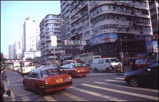 die Straßen von Kowloon, Hong Kong