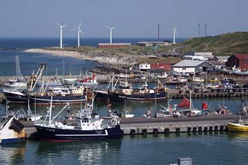 Blick auf den Hafen von Hanstholm, Dänemark