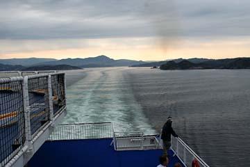 auf der Fähre Norröna zwischen Norwegen und Färäer-Inseln