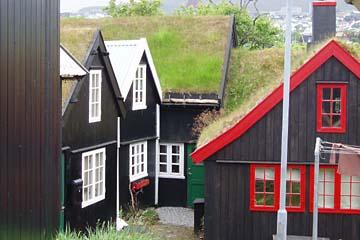 in der Altstadt von Torshavn, Färöer-Inseln