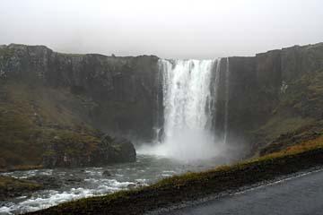 """Wasserfall """"Gufufoss"""" bei Seydisfjördur im Osten von Island"""