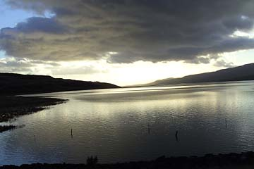 schöner Morgen am Lagarfljöt im Osten von Island