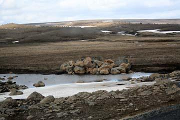 öde Landschaft von Egilsstadir nach Myvatn im Norden von Island