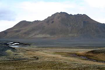 öde Landschaft im Norden von Island