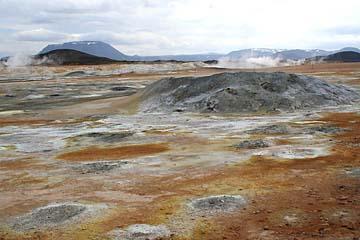 im Geothermalgebiet Soltarenfeld Namaskaro, Island, Norden
