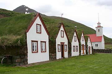 Laufas, Museumsdorf aus dem 19. Jahrh., Island, Norden