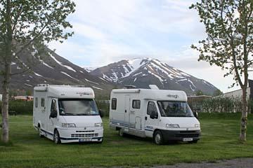 unser Stellplatz in Dalvik, Nordisland