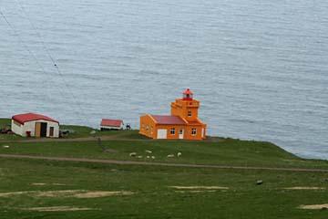Leuchtturm bei Siglufjördur im Norden von Island